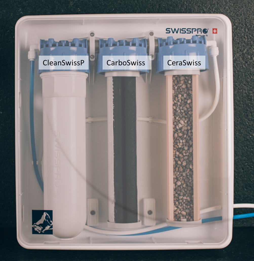 3-stage water filtration system